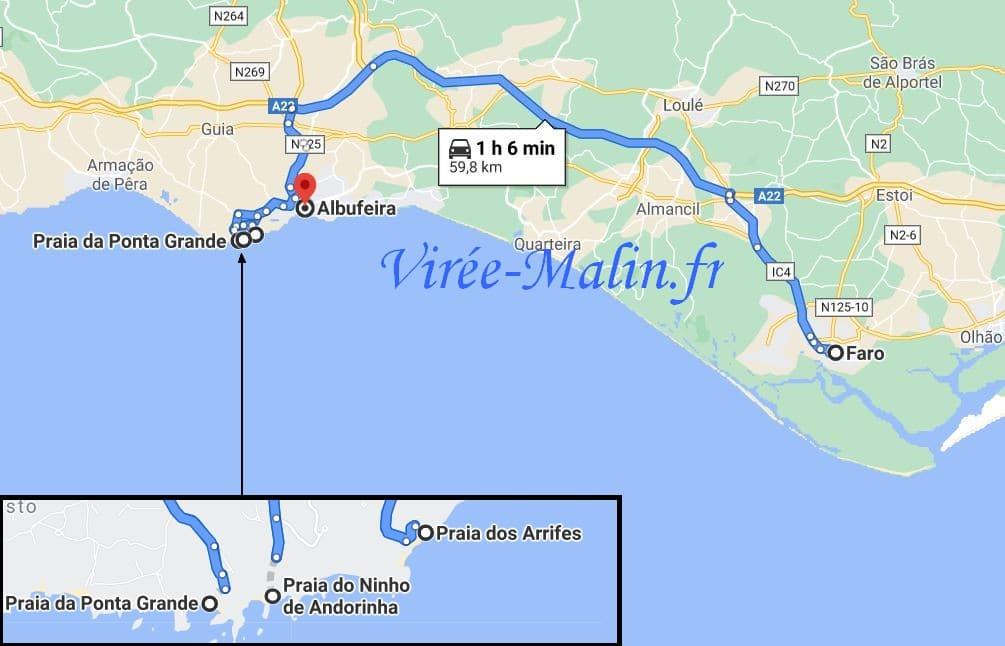 carte-itineraire-depuis-faro-en-voiture-location