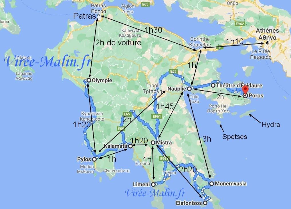 distance-villes-a-voir-peloponnese