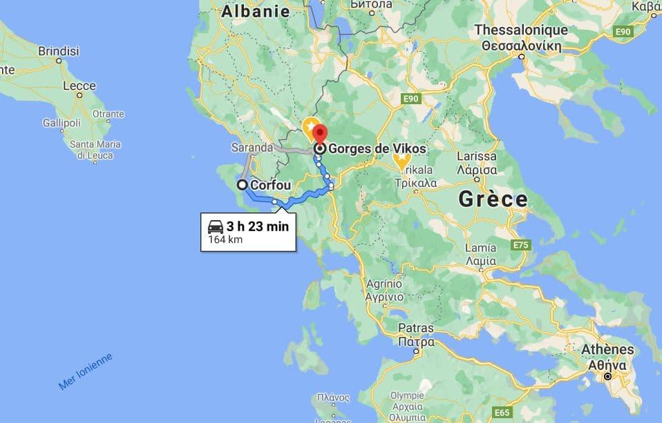 gorges-de-vikos-situation-geographique-googlemap