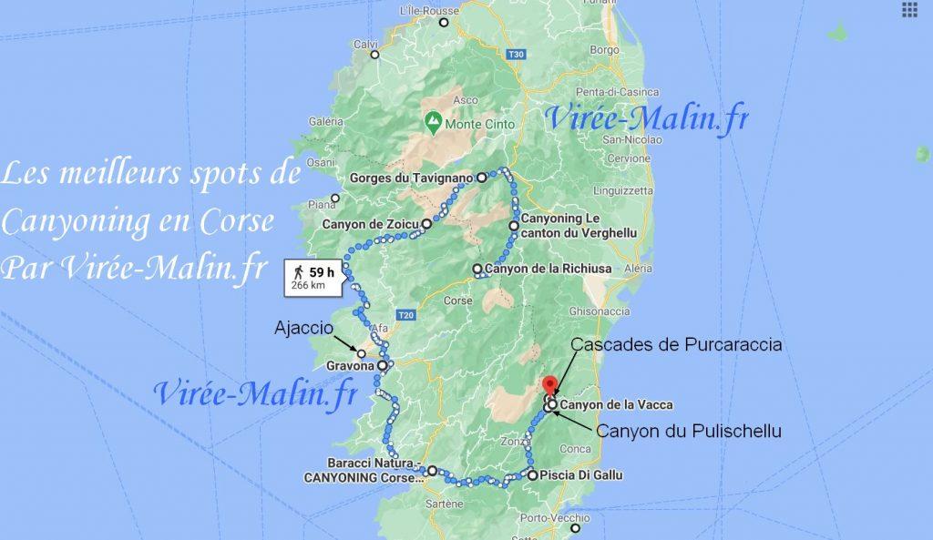 meilleurs-spots-canyoning-corse-carte-googlemap