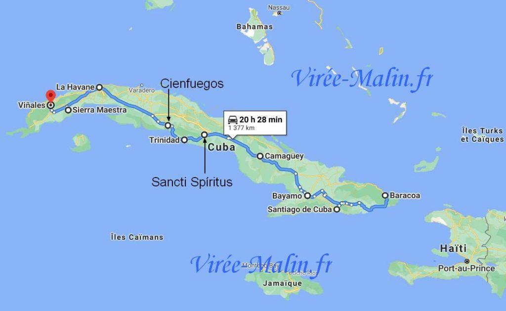 quelles-villes-visiter-cuba-googlemap