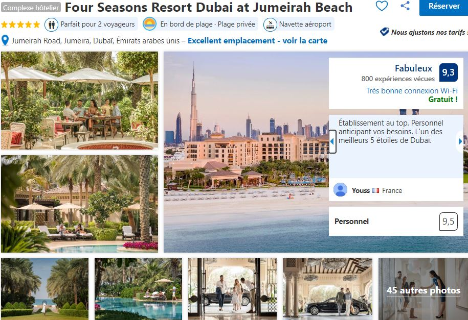 four-seasons-resort-dubai-meilleurs-hotel-dubai