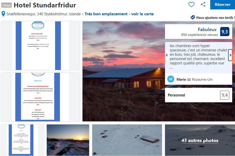 Hotel-Stundarfridur-logement-islande-ouest
