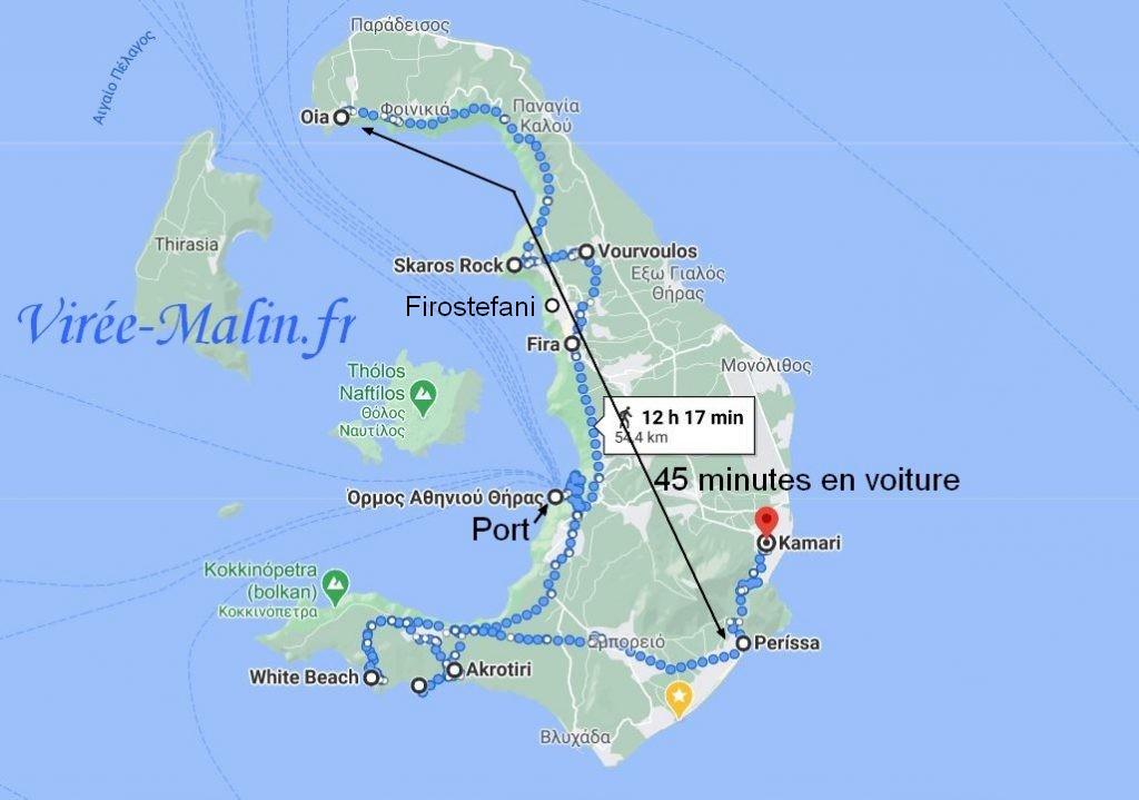 Googlemap-que-visiter-Santorin