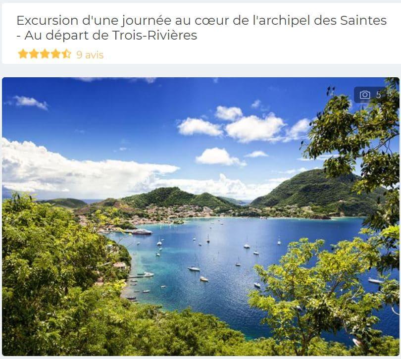 excursion-journee-iles-saintes-depuis-trois-rivieres