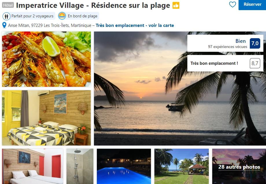 imperatrice-village-bord-plage-trois-ilets-martinique