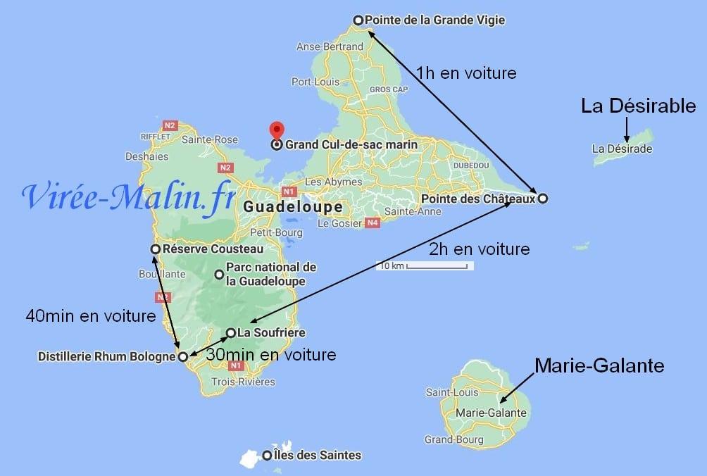 que-faire-Guadeloupe-googlemap