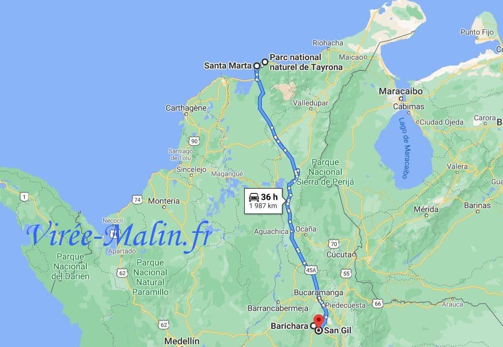 rejoindre-santa-marta-depuis-barichara-en-colombie