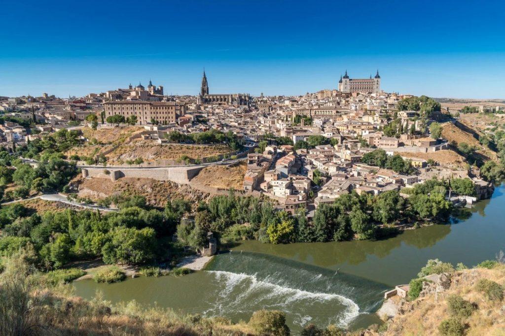 Vue aérienne de Tolède, au sud de Madrid