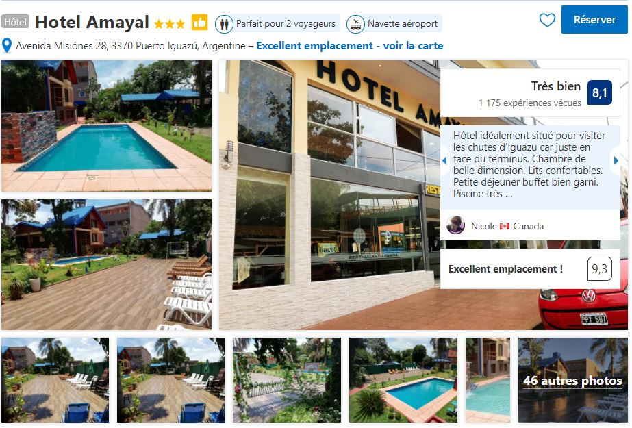 hotel-amayal-pour-visiter-chutes-iguazu