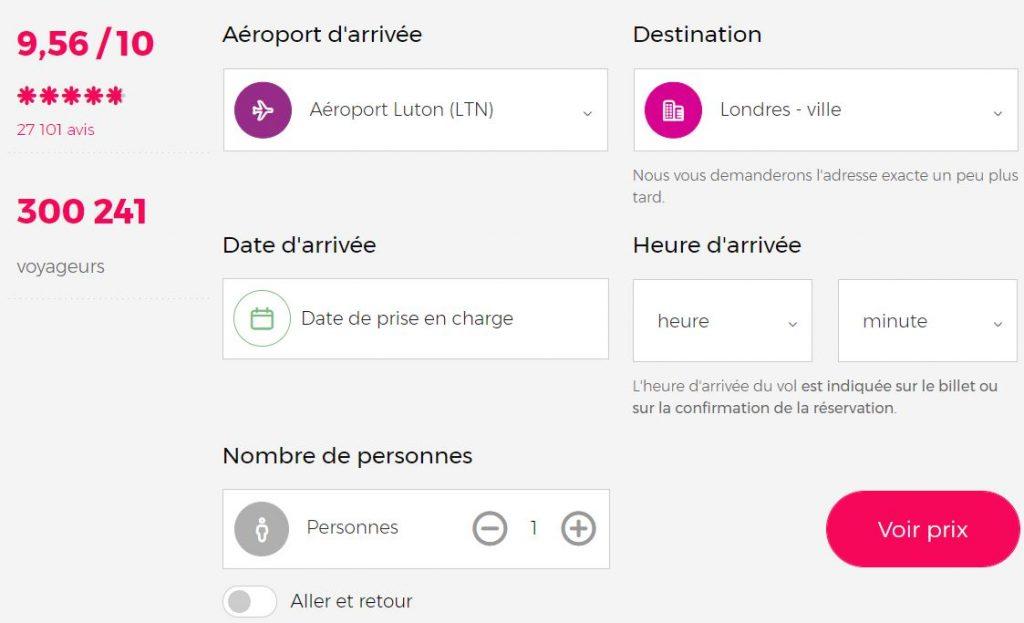 prix-taxi-privee-luton-aeroport-vers-londres