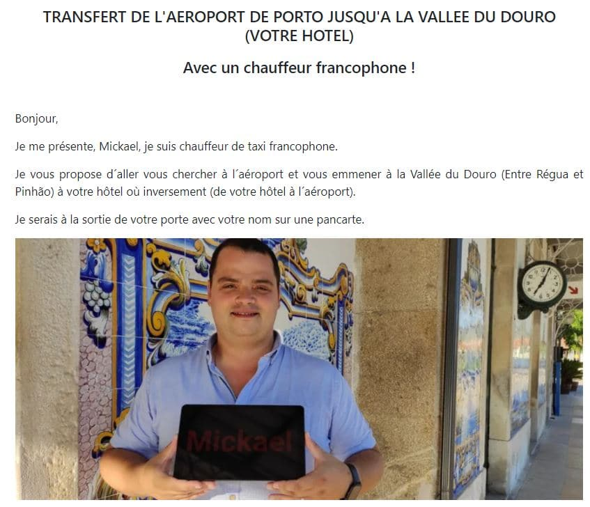taxi-prive-francophone-vallee-douro-depuis-porto