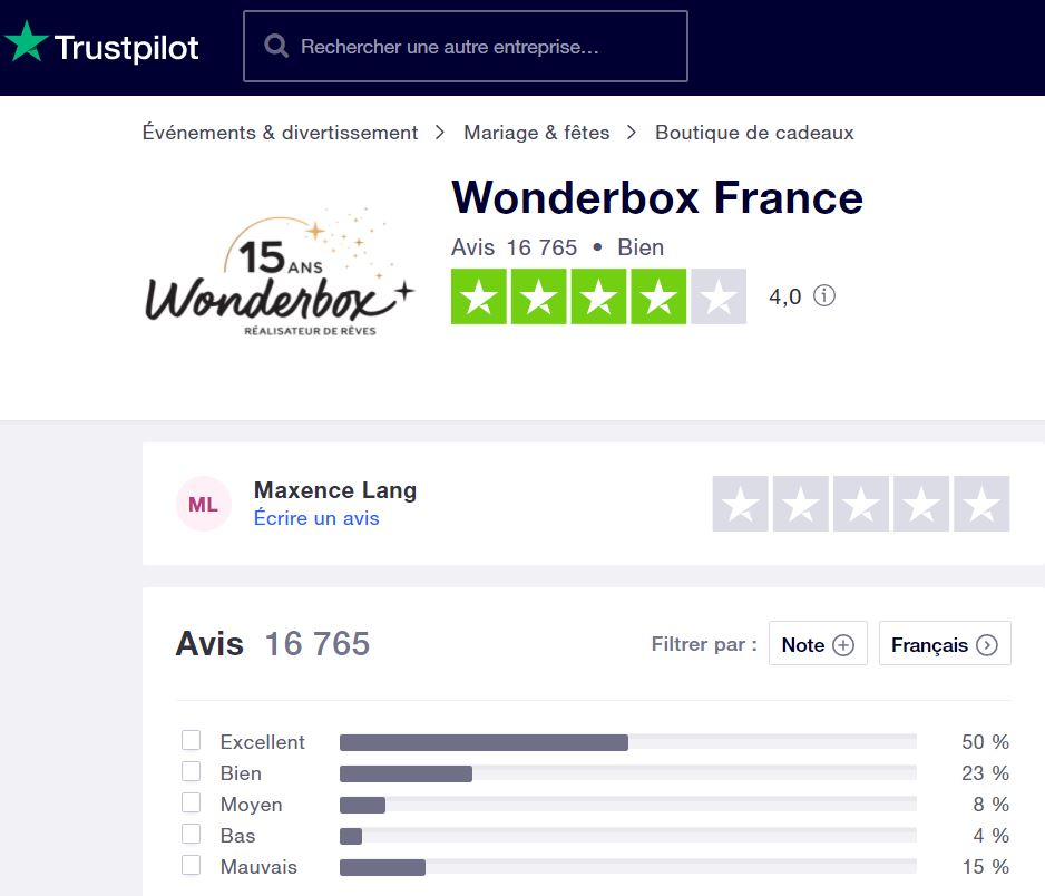 avis-wonderbox-par-trustpilot