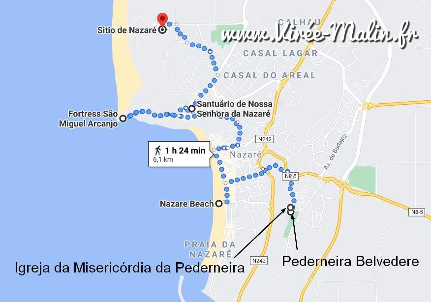 que-visiter-nazare-googlemap