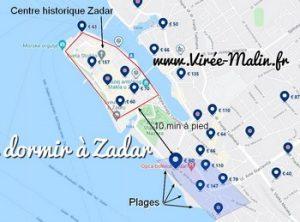 Où dormir à Zadar ? Dans quel quartier loger à Zadar ?